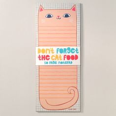Don't Forget the Cat Food Notepad