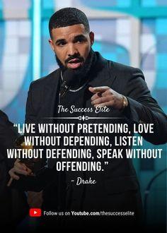 Drake Quotes Lyrics, Inspirational Rap Lyrics, Tupac Lyrics, Drake Lyrics Captions, Music Quotes, Drake Qoutes, Best Drake Quotes, Rapper Quotes, Baddie Quotes