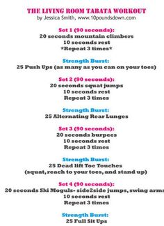Workout routine for anywhere...