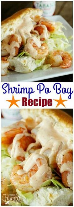 A Shrimp Po Boy is the ultimate sandwich for seafood lovers! Tender shrimp with a creamy sauce and crunchy cabbage on a soft roll. What's not to love? via @favfamilyrecipz