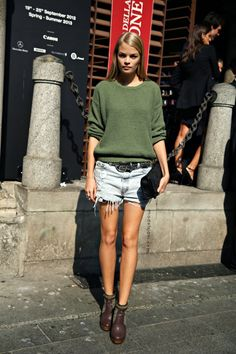 #FridaAasen + her cutoffs #offduty in NYC.