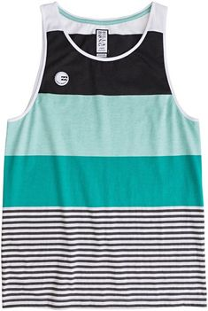 Mint striped tank for the guys