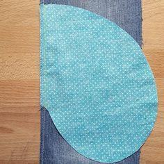 Nähanleitung Nahttasche nähen: Taschenteil rechts auf rechts auf Vorderteil