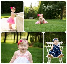 One year old girl, outdoor photo shoot with chair #tentinytoes