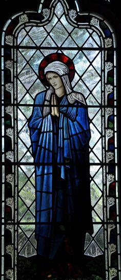 Buscot Virgin Mary Edward Burne-Jones William Morris -9 http://www.bwthornton.co.uk/