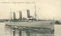 S/S BURDIGALA ex S/S Kaiser Friedrich Sunk by a German mine in the Kea Channel on 14 Nov. 1916.