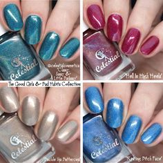 The Good Girls & Bad Habits Collection by @CelestialCosmectics Buckle Up Bettercup, Resting Bitch Face, Hell In High Heels, Classy Sassy and a Little Badassy, swatches by IG @nailpolishsociety