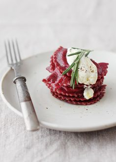 Beet dumplings- I made them with golden beets and made a filling of goat cheese and cream cheese with dried basil and garam masala spice and fresh parsley. It turned out great! Though I would like to try a round where I stay true to the recipe.