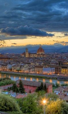 Florence at sunset.  We stood on this hill and saw this view.  Just not our picture.