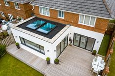 House extensions from market-leading manufacturer; ✅ Approved Ultra Installers ✅ Local, Vetted House Extension Installers ✅ Free, no-obligation quote ✅ Orangerie Extension, Extension Veranda, House Extension Plans, House Extension Design, Glass Extension, Patio Extension Ideas, Rear Extension, Bungalow Extensions, Garden Room Extensions