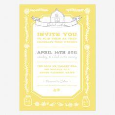 Stylish Modern Vintage Wedding Stationery from Love Vs. Design