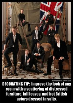 A great decorating tip indeed. and omg... there's Tom Hiddleston