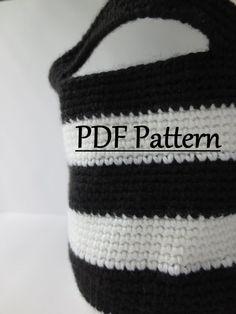 CROCHET PATTERN Basket Crochet Basket by LovelyLizardDesigns