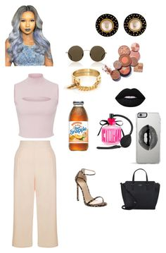""""""""""" by qveennnnnn on Polyvore featuring Cushnie Et Ochs, New Look, Chanel, Illesteva, Taylor and Tessier, Lime Crime, Victoria's Secret, Kate Spade, Stuart Weitzman and Lipsy"""