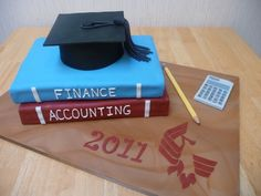 accounting cake ideas yea so when I graduate w/ my BSBA in Accounting this be an great idea for a cake but throw some purple and gold in there!!