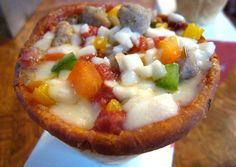 It's a pizza cone. I think this would be rather interesting to try.