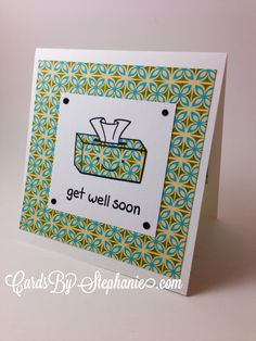 """Super easy-to-make Get Well Soon card featuring Lawn Fawn's """"On the Mend"""" stamp set - via CardsByStephanie.com"""