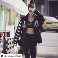 So it turns out Kendall Jenner is into vintage @kappa_official Juventus gear  #kendalljennerstyle #kappa #juventus #footballshirtcollective
