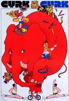 Cyrk Slon na rowerze, Circus - Elephant on bicycle , Swierzy Waldemar