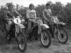 1977 MX Champs Kent Howerton, Bob Hannah, Tony Di Stefano