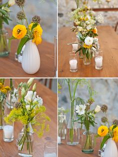 Amy Nichols Special Events Napa Valley (St. Helena) Wedding - Lisa Lefkowitz Photography - yellow florals on Brooklyn Bride! Florals by Spiral Hand Design.