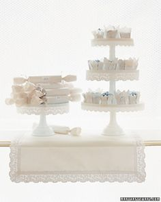 """See the """"Filigreed Favors"""" in our DIY Doily Wedding Decorations gallery Wedding Themes, Wedding Designs, Wedding Favors, Wedding Cakes, Wedding Ideas, Wedding Photos, Paper Doilies, Paper Lace, Doily Wedding"""