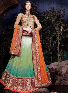 Wholesale Bridal Wear A Line Lehenga Choli Collection  Grab full catalog online @ http://www.suratwholesaleshop.com/5008-Glorious-Yellow-Georgette-Half-N-Half-Wedding-Wear-Saree?view=catalog&page=2   #wholesalelehengas #lehengas #bulklehengas #cheaplehengas #heavyworklehengas #bridallehengas #suratlehengas #onlinelehengasshopping