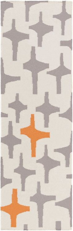 Surya TXT3004 Textila Gray, Orange Runner Area Rug