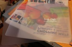Dollar Store Hacks: Silhouette Cutting Mats and DIY Stencils from Dollar Store chopping mats