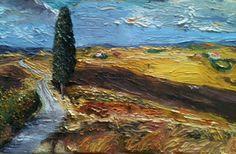 Pintura al óleo. La Toscana.