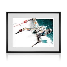 """B-Wing Fighter (13""""W x 19""""H)  would make a bold statement in any Star Wars fan's home or office. It's printed on premium quality, acid-free matte paper with brilliant, hi-definition inks. -  Click on This Link & get a $10 Credit Immediately!!!  https://www.touchofmodern.com/i/7HQHUEEP"""