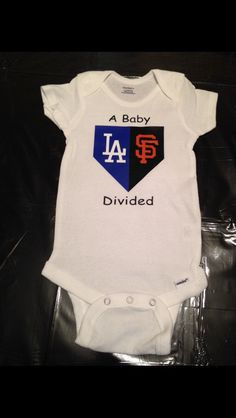 Baseball Onesie Home Plate | Baby Divided Onesie | House Divided | Sports Teams | Baby Boy Shirt Baby Girl Shirt | 2 Teams Two Teams Onesie