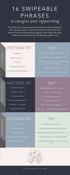 Swipeable Phrases to Energize Your Copywriting (& Sell!) Copywriting ideas for sales copy in your creative entrepreneur business. Pin now, read later!Copywriting ideas for sales copy in your creative entrepreneur business. Pin now, read later! Creative Writing, Writing Tips, Writing Prompts, Essay Writing, Writing Help, Writing Skills, Content Marketing, Social Media Marketing, Email Marketing