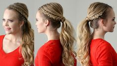 Dutch Lace Braid Ponytail | Missy Sue - YouTube