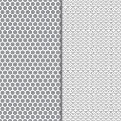 Download Digital Paper Pack Retro & Vintage Dark Grey on White Online | Gidget Designs