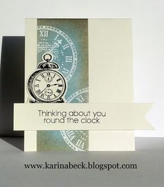 Thinking about you round the clock card