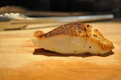 Next on my cooking list: Bronzed Sea Bass with Lemon Shallot Butter. I'm planning to make it with some Greek Salad (pinned here) and traditional Filipino Java Rice. Shellfish Recipes, Seafood Recipes, Cooking Recipes, Cooking Fish, Chicken Recipes, Chilean Sea Bass, Halibut Recipes, Healthy Eating Tips, Fish And Seafood