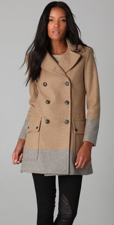 Rag & Bone Admiral Coat in Camel/Grey.... love the way it resembles a trench but with just the right material to take it up a notch!