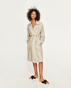ZARA - COLLECTION AW/17 - LINEN TRENCH COAT