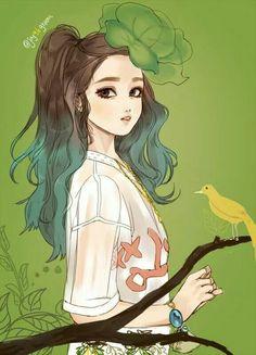 Red Velvet's Joy, the green girl. Cr: as tagged