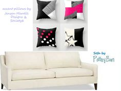 This shows a color combo example of pillows that would look good on this color sofa.
