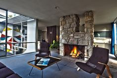 Inside Rose Seidler ' s house you can see classic mid-century design ...