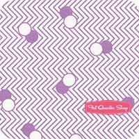 Kimberly's Garden Lilac Zig Zag Dots Yardage SKU# FWDKIG05-LIL