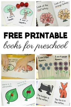 Lots of free printable books for preschool kids to make and read! Love that they can be used with a variety of preschool themes. They'd make great free printable books for kindergarten children too! Kindergarten Books Free, Preschool Literacy, Preschool Lesson Plans, Preschool Books, Free Preschool, Preschool Printables, Preschool Themes, Preschool Letters, Free Printables