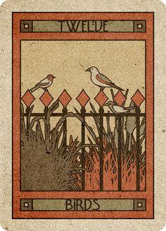 12 Birds - Chelsea-Lenormand Red by Neil Lovell