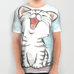 Cat All Over Print Shirt