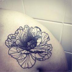 Blackwork flower by GueT Deep GueTDeep blackwork dotwork flower