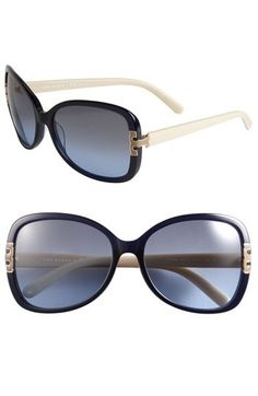 TORY BURCH                                                                                                                       Oversized Navy Cream Sunglasses                                                                                                                       ✺ꂢႷ@ძꏁƧ➃Ḋã̰Ⴤʂ✺