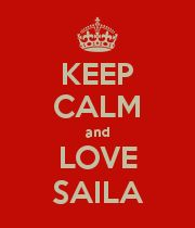 KEEP CALM and LOVE SAILA - Personalised Poster large