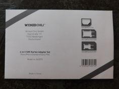 Wicked Chili 4-in-1 Sim-Karten Adapter Set (Nano, Micro, Standard, Eject Pin) :: Manu testet und berichtet